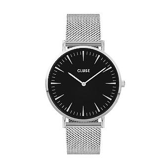 Cluse Unisex La Behème Silver Circle Quartz Fashion Watch CW0101201004