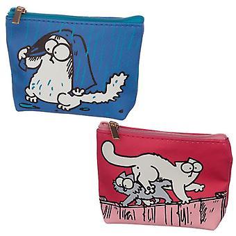 Sac à main pratique de sac de maquillage de pvc - simons chat 2 fourni