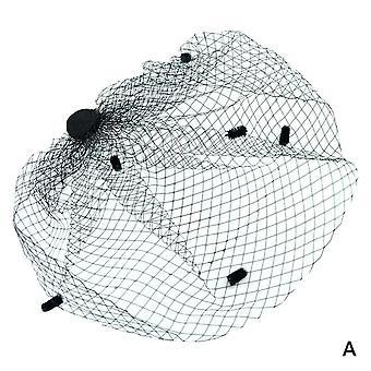 Net Birdcage Veils Charming, Bröllop Halloween Hattar För Fascinator Face