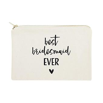 Best Bride Maid Ever-cotton Canvas Cosmetic Bag