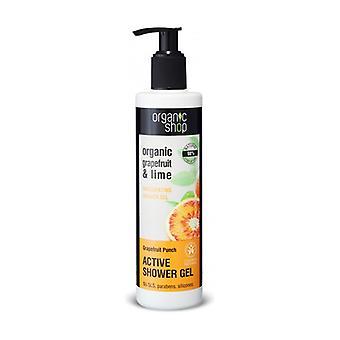Energizing Shower Gel Grapefruit and Organic Lemon (bdih) 280 ml of gel