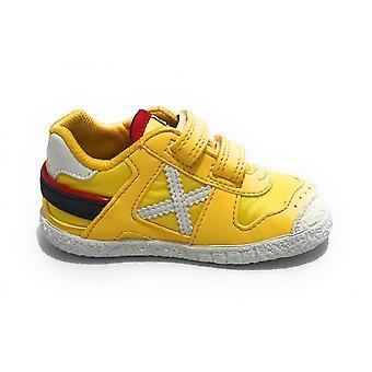 Scarpe Bambino Munich Baby Goal Sneaker Con Strap Suede/ Tessuto Giallo Zs21mu05 1508