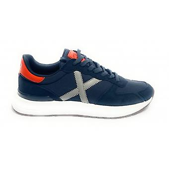 Shoes Munich Sneaker Men's Running Soon 11 Suede and Fabric/ Navy Blue U21mu02