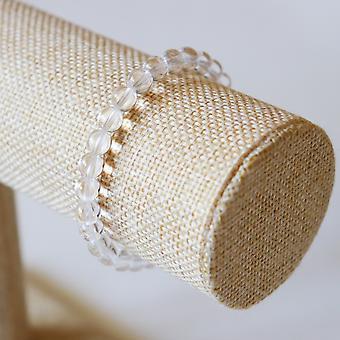 Bracelet En Cristal De Roche – Perles 6mm