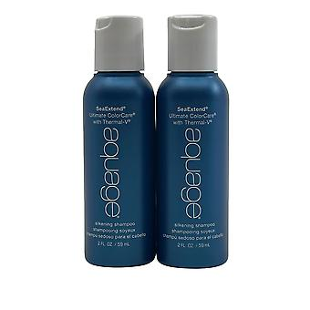 Aquage Silkening Shampoo Coarse & Curly Hair  2 OZ Set of 2
