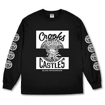 Crooks & Castles Klepto Medusa Long Sleeve Tee Black