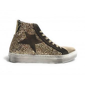 Shoes Women Tony Wild Sneaker High Glitter/ Laminate Gold Stella Suede Brown D18tw11