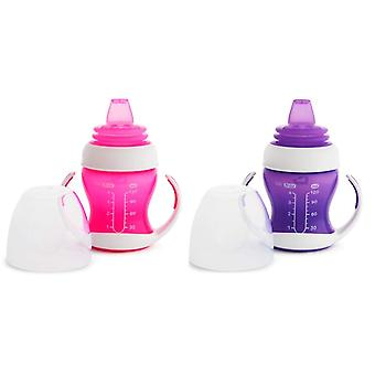 Munchkin Gentle Transition Trainer Cup 125ml Pink & Purple 2 Cups