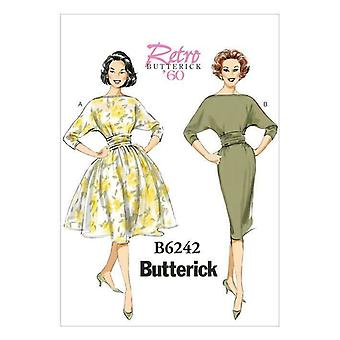 Butterick نمط الخياطة 6242 يفتقد السيدات Ruched الخصر فساتين حجم 6-14 Uncut