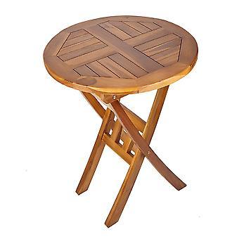 Massief hardhout ronde houten tuin dranken tafel-patio Bistro tuinmeubelen