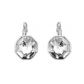 Traveller Drop Earring - Hexagon - Rhodium Plated - 156961 - 716