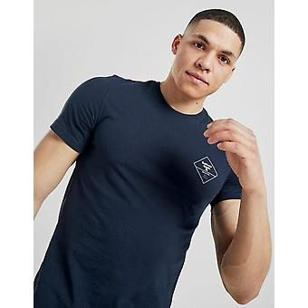 New Barbour Beacon Men's Box Logo Short Sleeve T-Shirt from JD Outlet Blue
