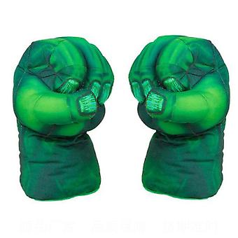 Green Hulk Simulation Gants de boxe Adulte Funny Peluche Toys Green
