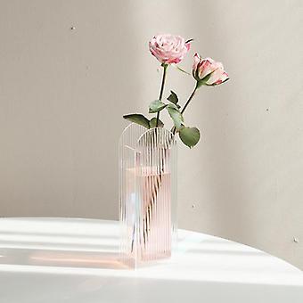 الاكريليك مزهرية المجففة الزهور الأزهار ترتيب ديكور المنزل