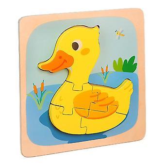 3D hádanky hračky děti intelektuální vzdělávání puzzle dárek kachna pt91