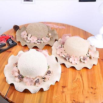 Летний Sunbonnet Соломенные шляпы с цветами