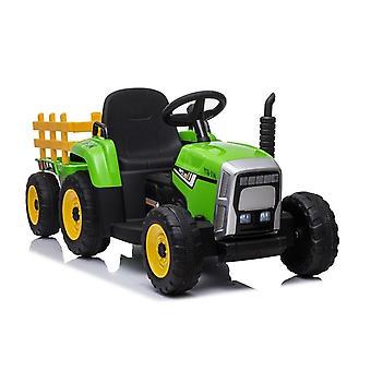 Ηλεκτρικό τρακτέρ ride-on – Πράσινο – Με ρυμουλκούμενο