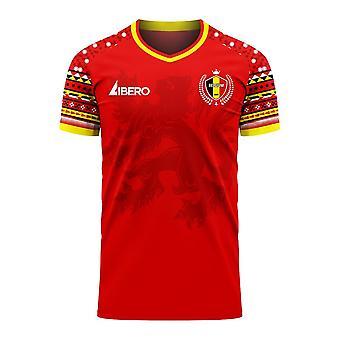 Belgia 2020-2021 Home Concept Football Kit (Libero)
