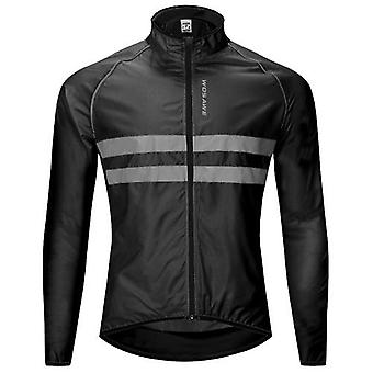 Reflexní long sleeve bike jersey wind coat bunda voděodolná větruodolná venkovní sportovní kolo cyklistická běžecká bunda