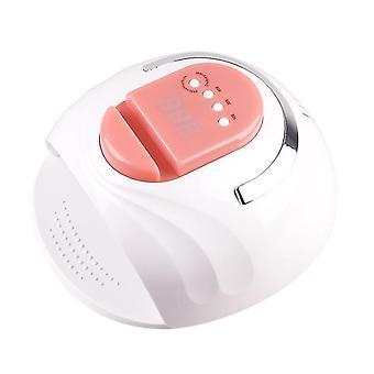Pink portable eu plug smart 4-gear timing 42 led uv light nail lamp with phone holder az4883