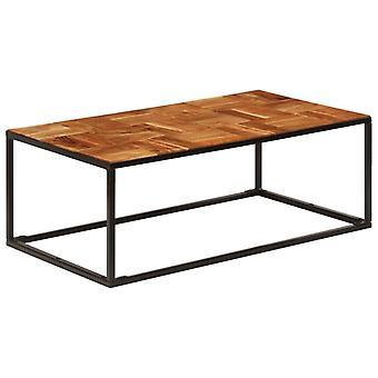 Couchtisch 110X40X60 Cm Solid Acacia Holz und Stahl