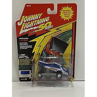 Hawaiian 1970s Dodge Charger Funny Car Blue 1:64 Johnny Lightning JLCG020A