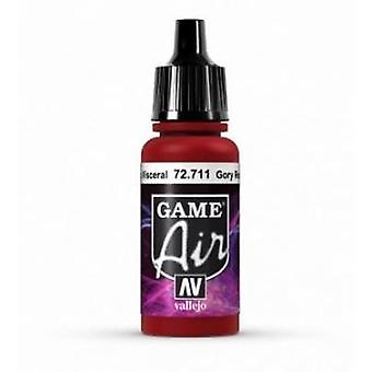 Vallejo Game Air 17ml Acrylic Airbrush Paint 72.711 Gory Red