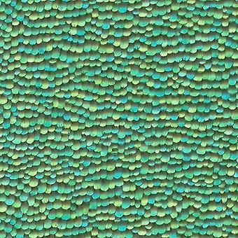Erismann Green Feather Wallpaper