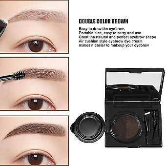 Portable Size 6g Natural Women Double Color Air Cushion Eyebrow Cream Gel