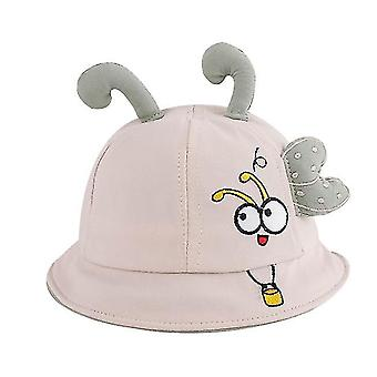 1 tot 2 jaar oud kleine bij borduurwerk baby visser hoed top tentakels baby hoed (beige)