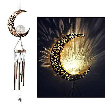 Schmiedeeisen Hohle Sonne Mond WindSpiel Outdoor Landschaft Ornament Dekoration Hängende Dekorationen