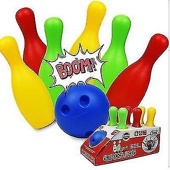 Kinder Bowling Plastik Spielzeug Kindergarten Freizeit Sport Unterhaltung 19/22CM Bowling