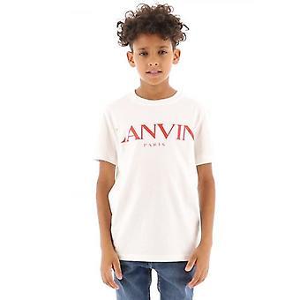 Lanvin Barn Off-White Kortärmad T-Shirt