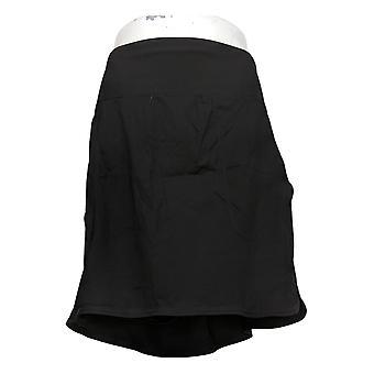 zuda Skirt Z-Eco Cityscape Skort with Pockets Black A381036