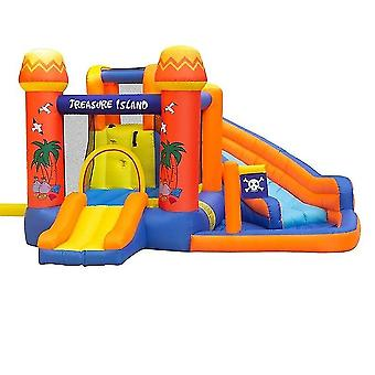 Bounce House Water Park Pirate Bay - Gonflable Slide Combo Blower