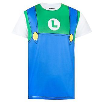 Super Mario Mens Luigi Costume T-Shirt