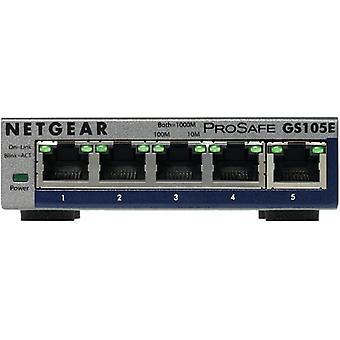 Netgear GS105E-200PES, hanterad, L2/L3, Gigabit Ethernet (10/100/1000), Full duplex