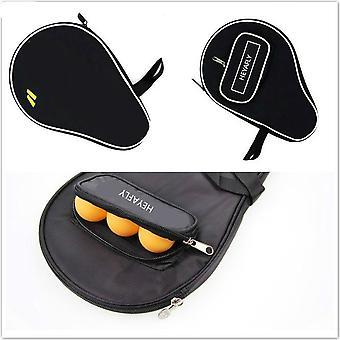 Los murciélagos de tenis de mesa cubren la bolsa de los murciélagos de squash