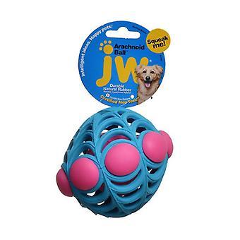 "JW Pet Arachnoid Ball Squeaker Dog Toy - Medium - 5"" Diameter"