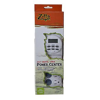 Zilla 24/7 Digital Timer Power Center - Up to 1875 Watts - (15 Amps)