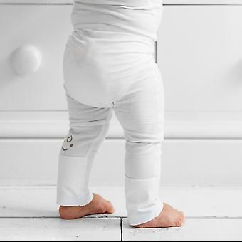 Eksem beroligende baby leggings med sammenleggbare føtter 24-36m