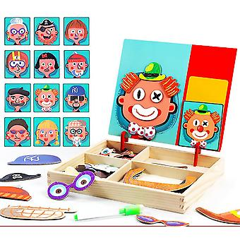 Children's Toys, Magnetic Wooden Puzzles, Baby Educational Games, Educational Toys, Ideal Gifts-(1)