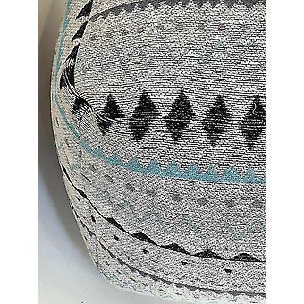 Ottomans spura home handknitted pouf square cotton foot rest ottoman