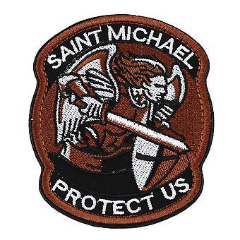 Saint Micheal Badger Militaire Tactique Armée Morale Combat Multicam Patch