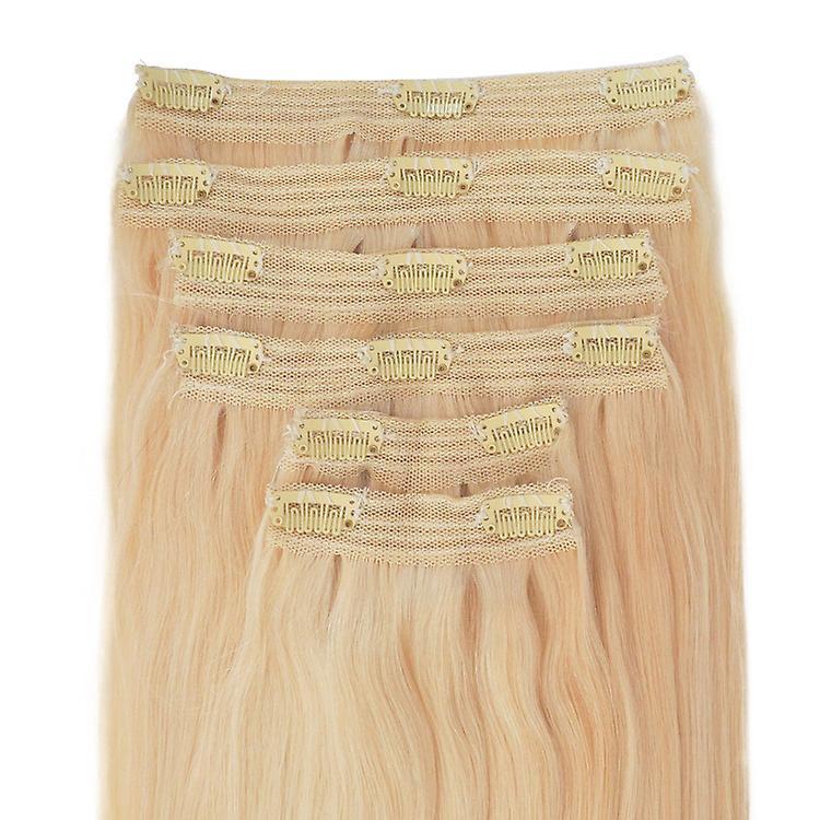 #60 Barbie Blonde - Extensions à clips cheveux - tête complète - Deluxe