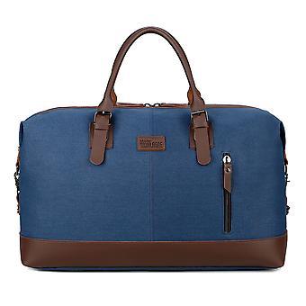 ブルー メンズ カジュアル ヴィンテージ トラベル バッグ 荷物バッグ キャンバス バッグ