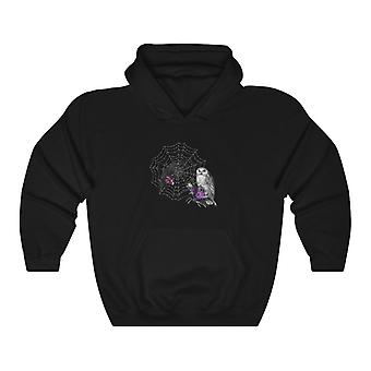 Pullover hoodies-raven and owl