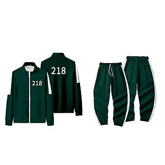 Squid Game Cosplay Costume Squid Game Sweatshirts And Pants Set For Cosplay Costume