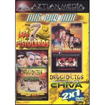 Los 7 Pistoleros/Drogadictos Quemando Chiva [DVD] USA import