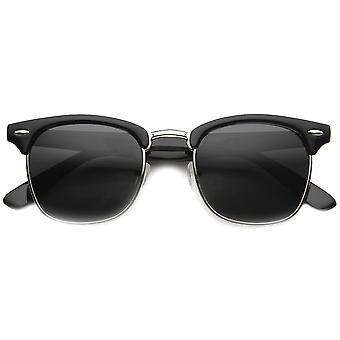Designer inspiré demi-trame classique Rim Cornu corne lunettes cerclées